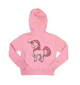 Sparkle Pracing Unicorn Zip Hoodie