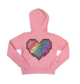 Sparkle Digital Heart Zip Hoodie