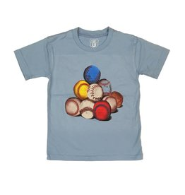 Wes & Willy Baseballs Tee