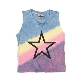 Firehouse Pastel Tie Dye Open Star Tank
