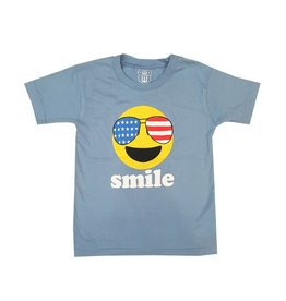 Wes & Willy Blue Infant Smile Tee