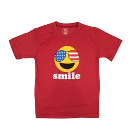 Wes & Willy Red Infant Smile Tee