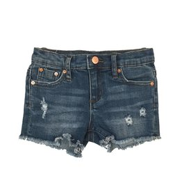 Tractr Indigo Wash Cut Off Shorts