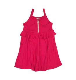 Sofi Fuchsia Ruffle Zipper Dress Dress
