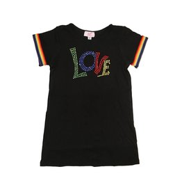 Sofi Rainbow Stripe Love Dress