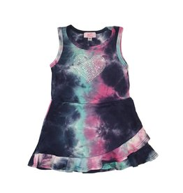 Sofi Tie Dye Heart Toddler Tank Dress