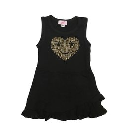 Sofi Heart Face Toddler Tank Dress