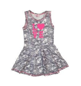Sofi Grey Camo Love Toddler Tank Dress