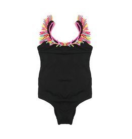 Little Peixoto Fringe Trim One Piece Swimsuit
