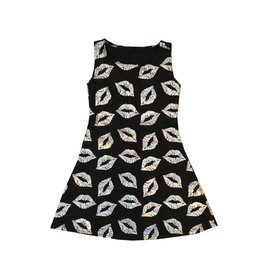 Dori Creations Silver Lips Tank Dress