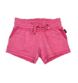 T2love Hot Pink Burnout Raw Edge Short