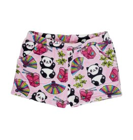 Candy Pink Panda Plush Shorts