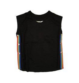 T2love Rainbow Side Stripe Snap Tank