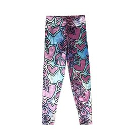 Sketchy Heart Peace Crushed Velvet Legging