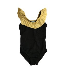 Coral Reef Blk/Gold Ruffle One Piece Toddler Swimsuit