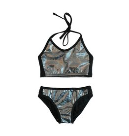 Cruz Holographic Bandeau Bikini