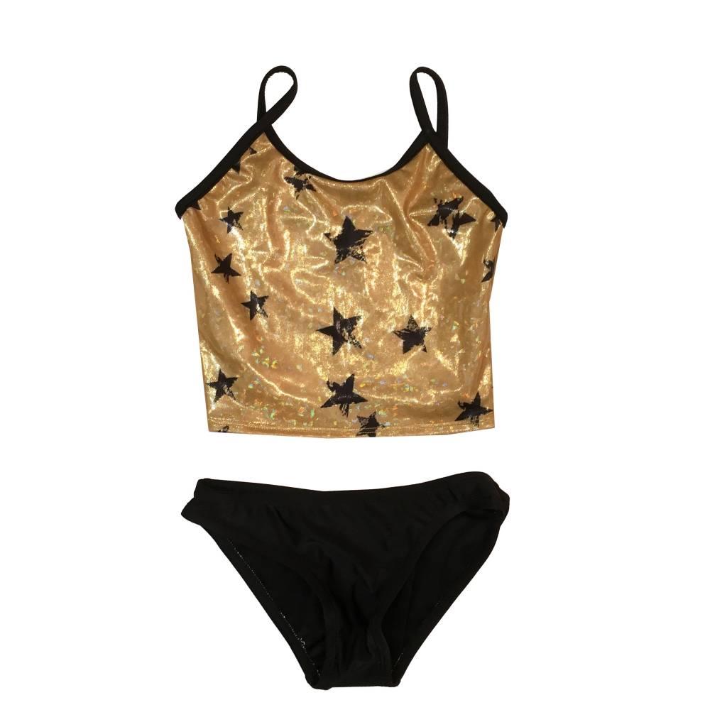 Cruz Gold Sparkle Stars Tankini