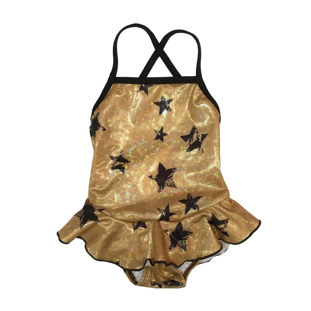 Cruz Sparkle Stars Infant Ruffle One Piece Swimsuit