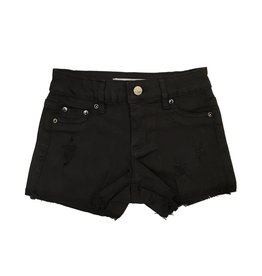 Tractr Black Distressed Cut Off Shorts