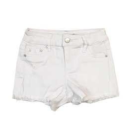 Tractr White Distressed Cut Off Shorts