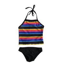 Cruz Rainbow Stripe Tankini