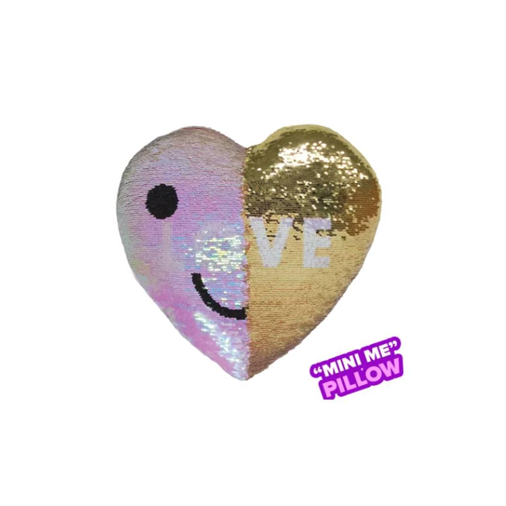 Mini LOVE Heart Reversible Sequin Pillow