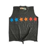 Vintage Havana Stars Tie Front Tank