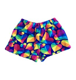 Confetti Geo Heart Plush Lounge Shorts