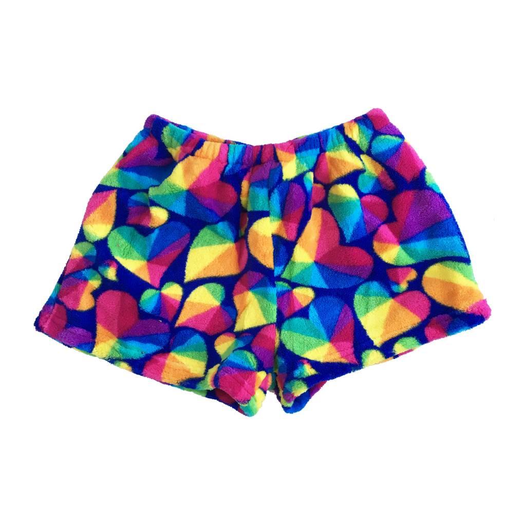 Confetti Geo Heart Plush Lounge Shorts
