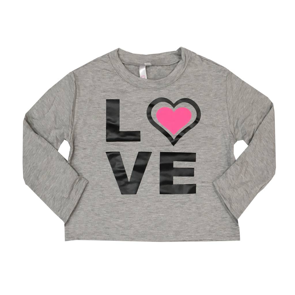 Malibu Sugar Love Heart Fleece Cropped Sweatshirt