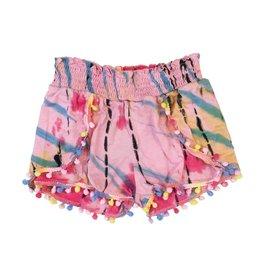 Flowers by Zoe Tie Dye Pom Pom Shorts