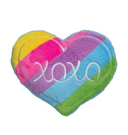 Rainbow XOXO Furry Scented Pillow