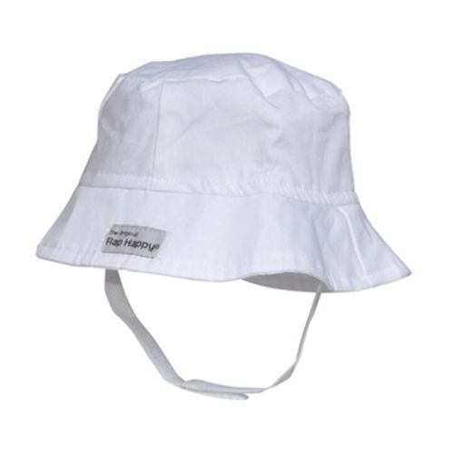 Flap Happy White Bucket Hat