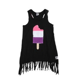 La La Black Fringe Popsicle Dress
