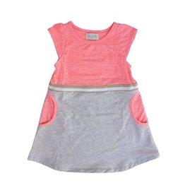 Miki Miette Gold Trimmed Toddler Pocket Dress