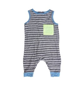 Miki Miette Striped Pocket Romper