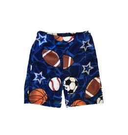 Confetti Sports and Stars Fuzzie PJ Shorts