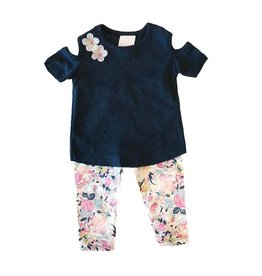 Too Sweet Shabby Chic Infant Floral Legging Set