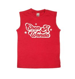 Red Retro Camp Tank