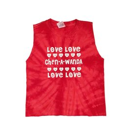 Red Tie Dye Love Love Camp Tank