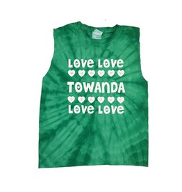Green Tie Dye Love Love Camp Tank