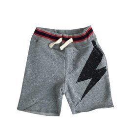 Bit'z Kids Grey Lightining Bolt Sweat Short