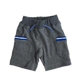 Bit'z Kids Grey Sweat Short with Blue Stripe