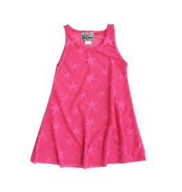 Dori Creations Pink Star Mesh Coverup
