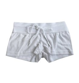 Suzette White French Terry Shorts