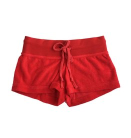 Suzette Red French Terry Shorts