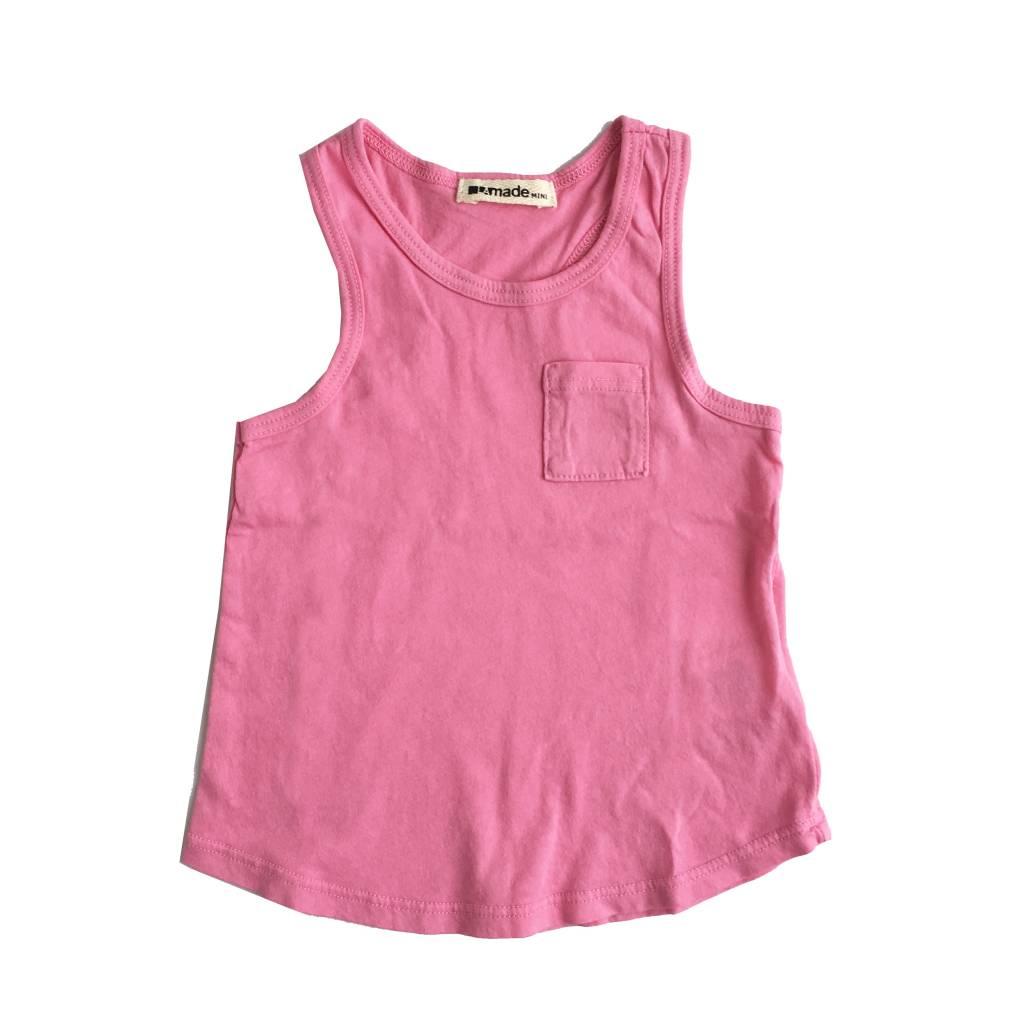 LA Made Bright Pink Pocket Tank