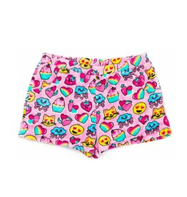 Candy Pink Sweets & Treats Plush Shorts