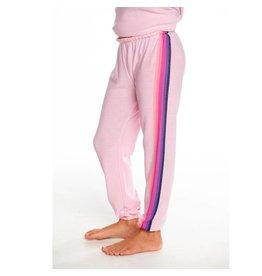 Chaser Pink Stripe Cozy Knit Sweatpants