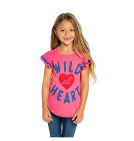 Chaser Wild At Heart Flutter Sleeve Tee